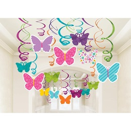 Spring Butterfly Foil Swirl Value Pack, 30/pkg.