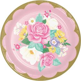 Floral Tea Party Dinner Plates