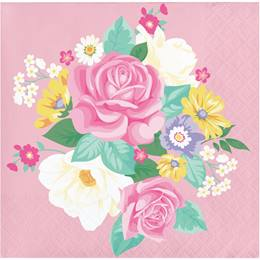 Floral Tea Party Beverage Napkins