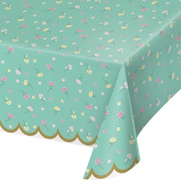 Floral Tea Party Plastic Table cover