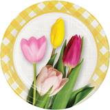 Spring Tulips Luncheon Plates