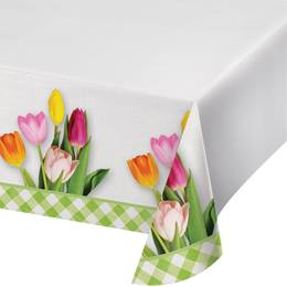 Spring Tulips Table Cover