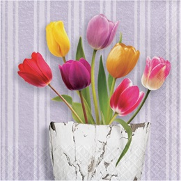 Springtime Tulips Luncheon Napkins