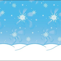 Winter Time Flat Background Paper