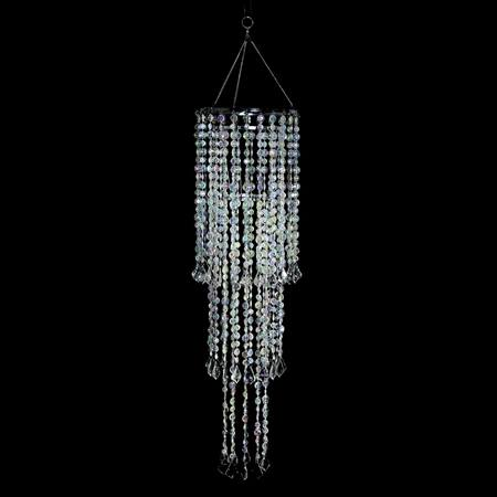 Iridescent Crystal Tiered Bead Chandelier