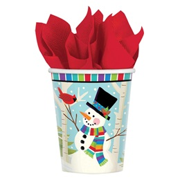 Smiling Snowman Hot/Cold Cups