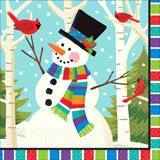Smiling Snowman Luncheon Napkins