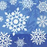 Winter Snowflake Luncheon Napkins