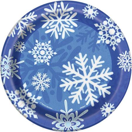 Winter Snowflake Luncheon Plates