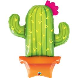 Potted Cactus-Shaped Foil Balloon