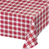 Plastic Red Gingham Table Cover