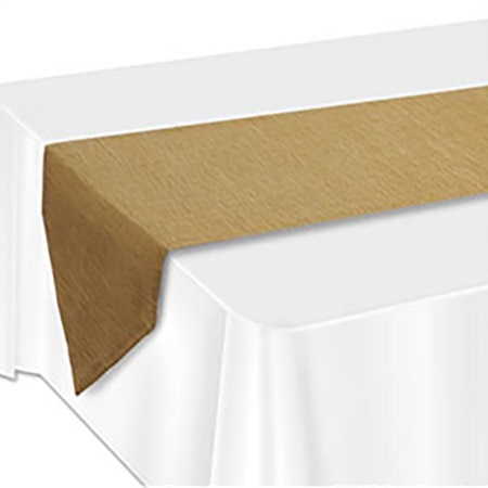 Faux Burlap Table Runner