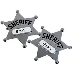 Sheriff Badges with Name Labels