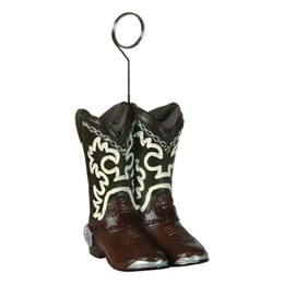 Cowboy Boots Photo / Balloon Holder