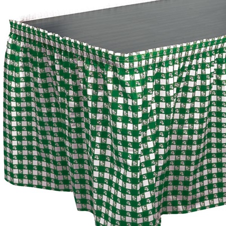 Green Gingham Table Skirt
