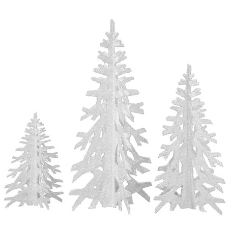 Winter Tree Trio Set