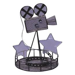 Black Movie Camera Wire Centerpieces