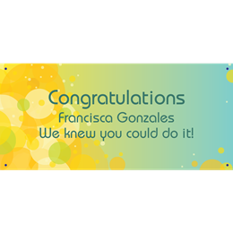 Personalized Banners - Congratulations Circles