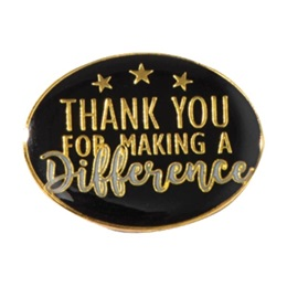 Thank You for Making a Difference Award Pin