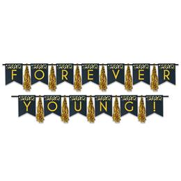 Forever Young Tassel Banner