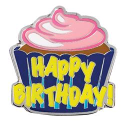 Happy Birthday Cupcake Lapel Pin
