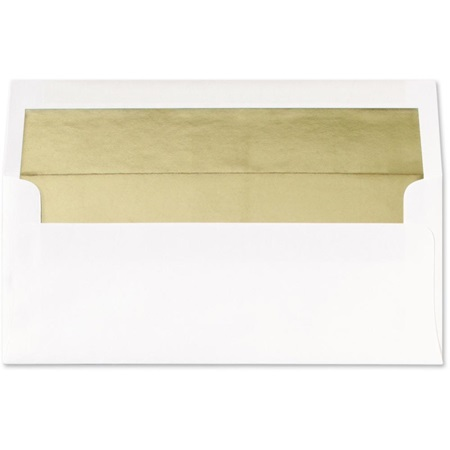 Gold Foil Lined White Envelopes