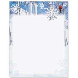 Winter Cardinal Border Specialty Paper