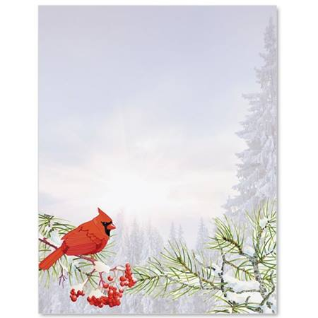 Forest Cardinal Letter Paper