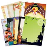 Fall Holiday Letter Paper Value Pack