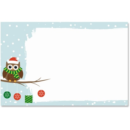 Holiday Owl Crescent Envelopes