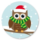 Holiday Owl Seals