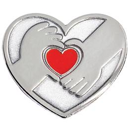 Heart and Hands Lapel Pin