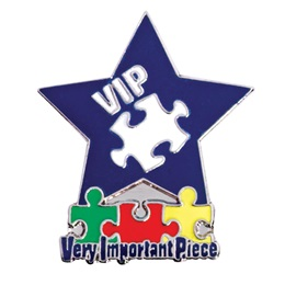 VIP Puzzle and Star Pin