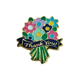 Thank You Bouquet Pin