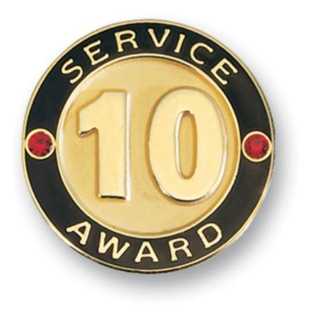 10 Year Service Award Lapel Pin | M&N Party Store