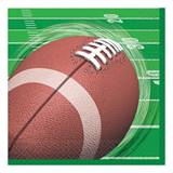 Football Spiral Beverage Napkins