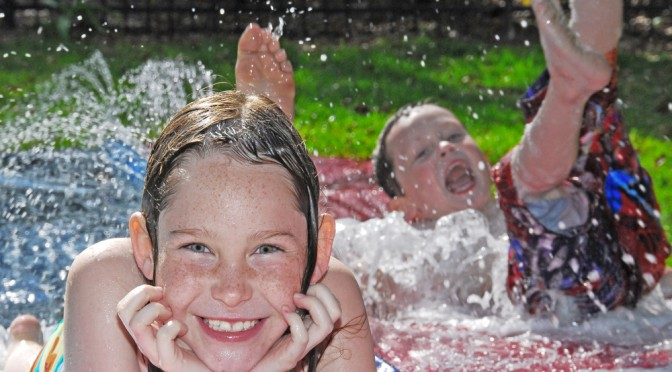 Kids in Water at Summer Games