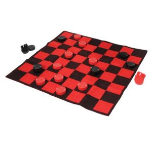 Checkerboard Rug for Summer Games
