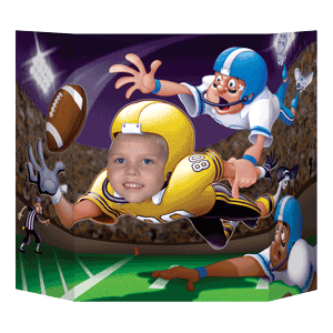 tailgate football photo prop