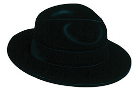 fedora, velour, roaring 20s, 1920s party, 1920s