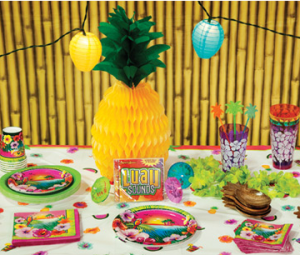 M&N Party Store Luau Birthday Party Ideas