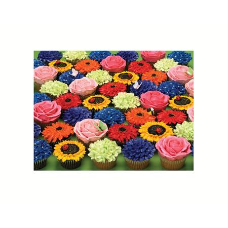 Cupcake garden large piece puzzle m n party store for Backyard party decoration crossword