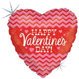 Chevron Valentine Metallic Balloon