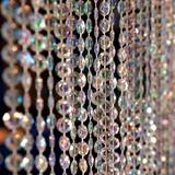 Iridescent Diamond-Cut Crystal Curtain, 12'