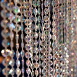 Iridescent Diamond-Cut Crystal Curtain, 6'