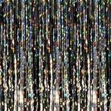 Black Holographic Fringe Curtain