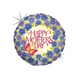 Happy Mother's Day Violets Balloon