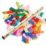 Gold Foil Confetti Wand with Multicolor Tissue Filler