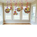 Fiesta Swirl Hanging Foil Decorations Value Pack, 12/pkg
