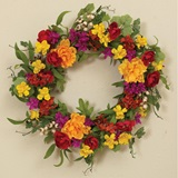 Blossoms and Berry Twig Wreath